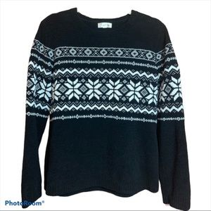 Traditions Fair Isle Soft Pullover Sweater Small